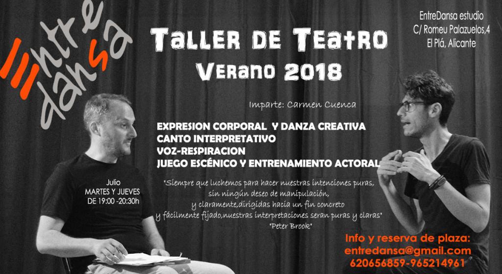 taller teatro verano