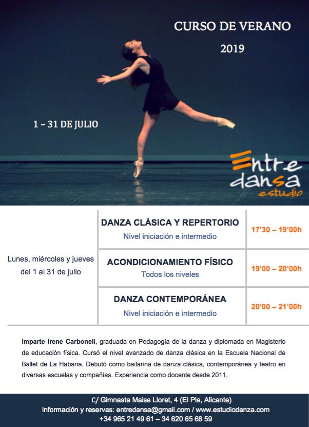 Curso de verano Ballet y Contem