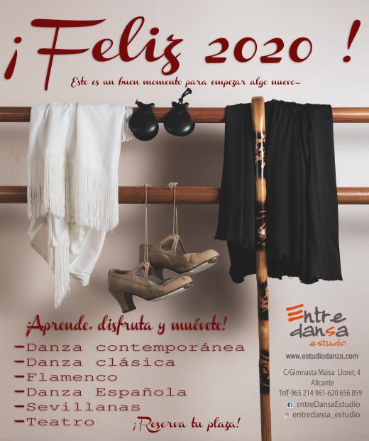 cartel feliz 2020